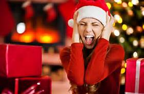 christmas - hsbg woman screaming