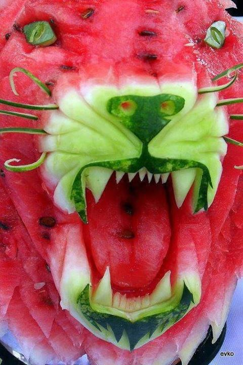 food - tiger watermelon