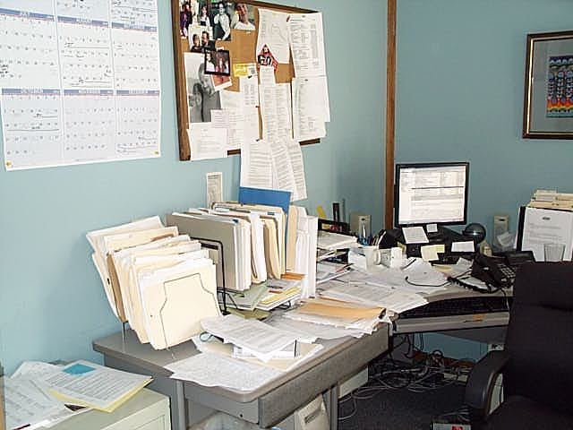 before 1 - sam desk