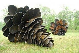 recycle art - shovel blades