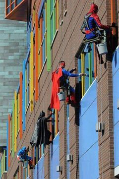 story - super hero window washers