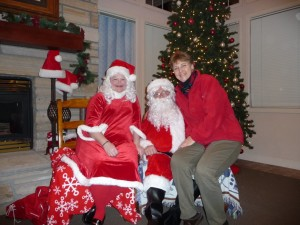 Me - Christmas w MrMrsClaus at Shores 12-2013